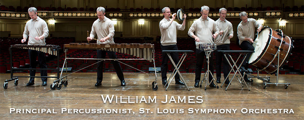 william james principal percussionist st louis symphony orchestra. Black Bedroom Furniture Sets. Home Design Ideas